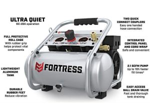 Ultra Quiet Air Compressor for High Speed Carvers