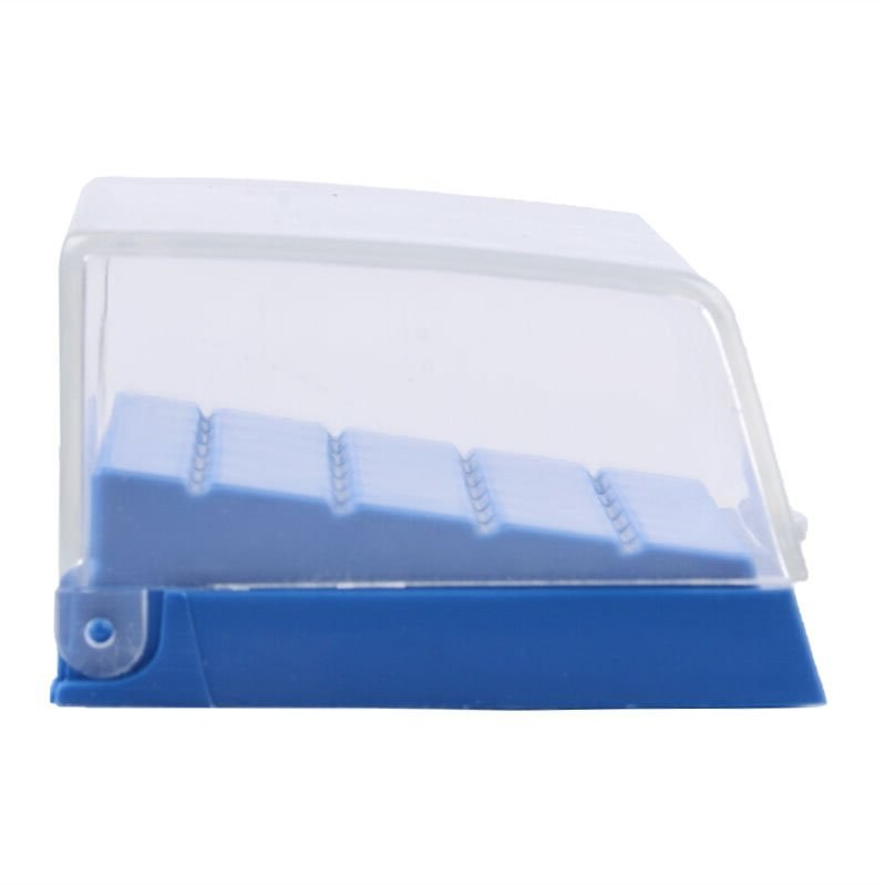 Plastic bur holder - 24 FG size holes - side