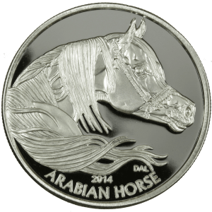 Silver Round - Equus 2014 Horse, obverse side