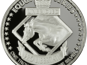 Silver Round - Equus 2014 Horse, reverse side