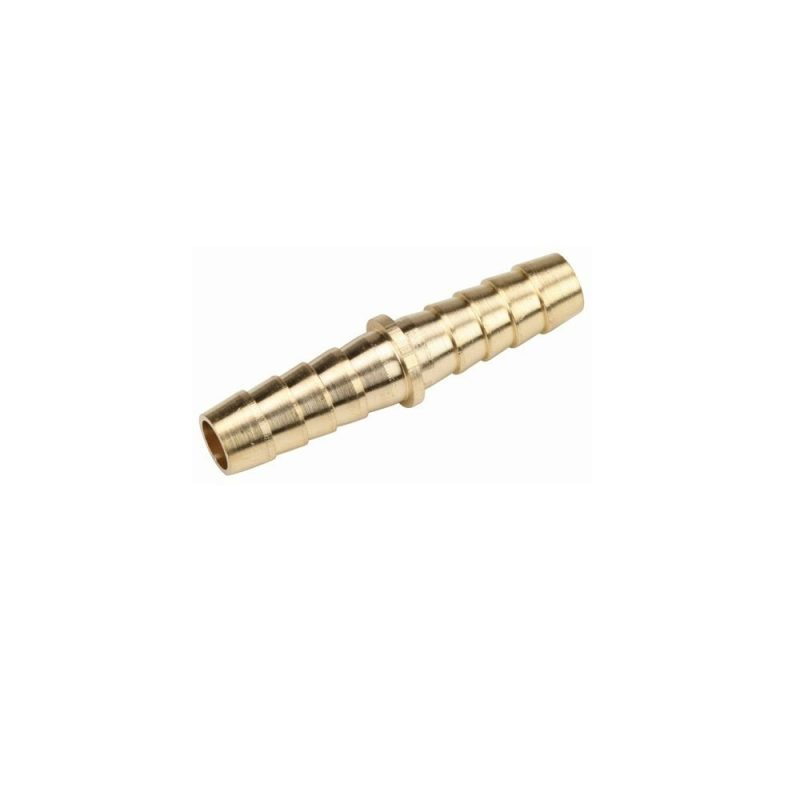 Brass hose splicer 1/8 barb